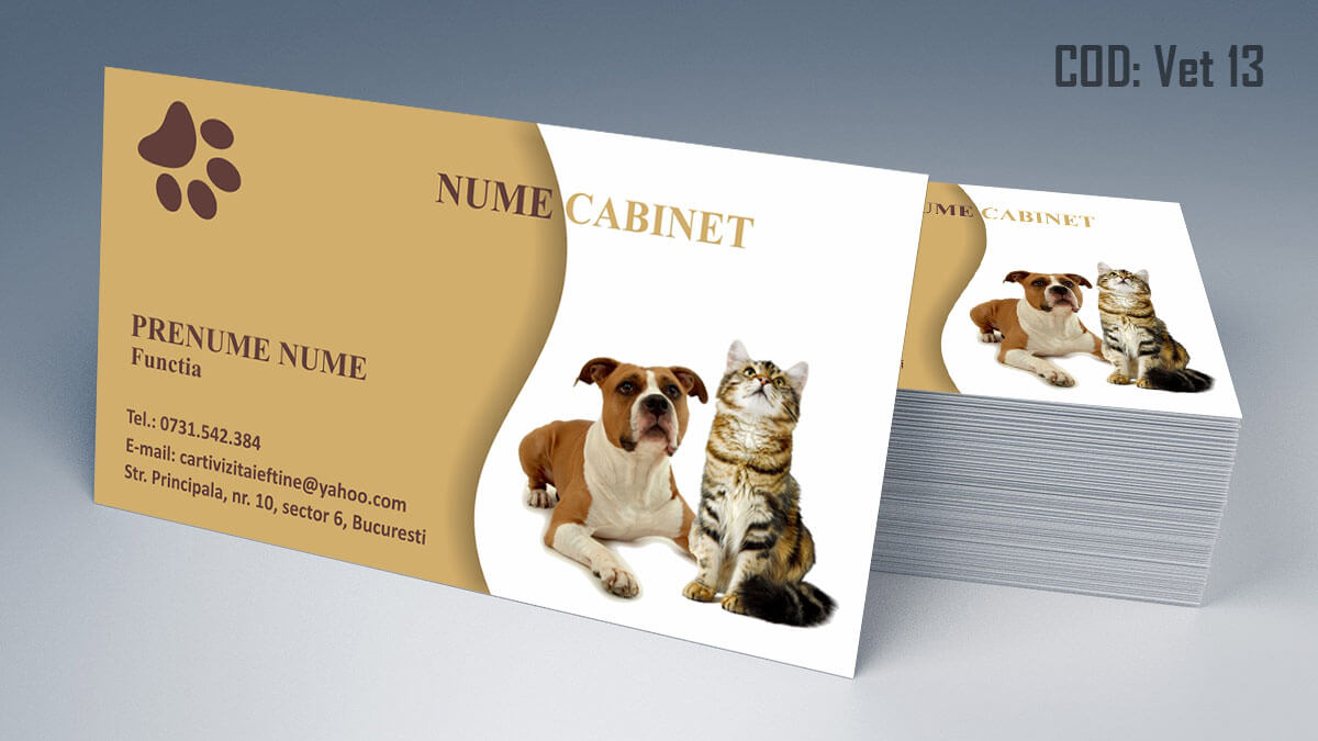 Carti de vizita cabinet veterinar farmacie veterinara clinica 13