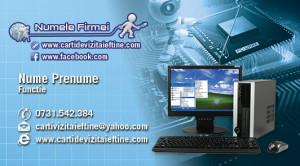 carti de vizita reparatii calculatoare, service, IT - 09