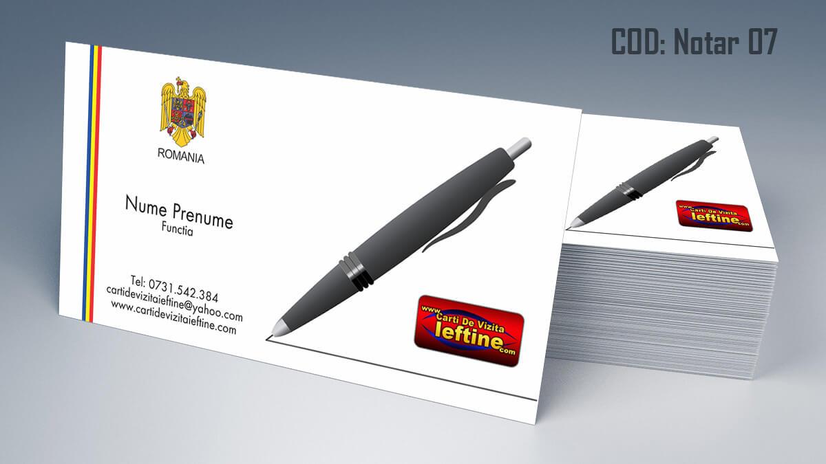 Carti de vizita Notar Birou Notarial Jurist Avocat 07