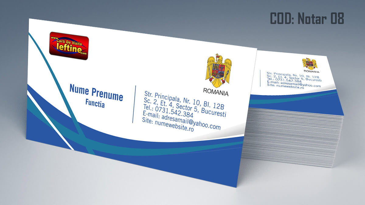 Carti de vizita Notar Birou Notarial Jurist Avocat 08