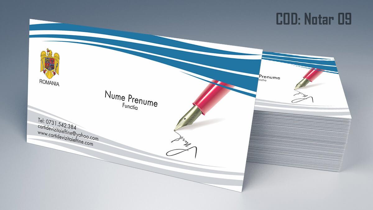 Carti de vizita Notar Birou Notarial Jurist Avocat 09