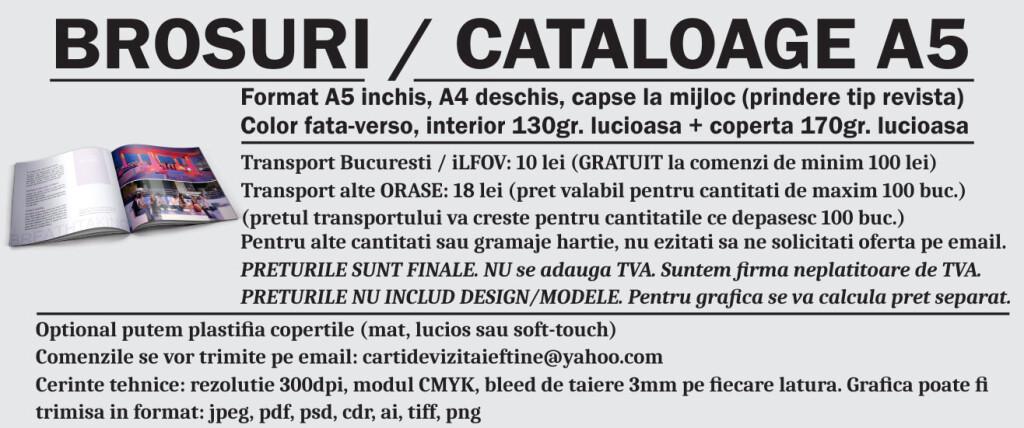info brosuri a5 personalizate promovare publicitare CDVi