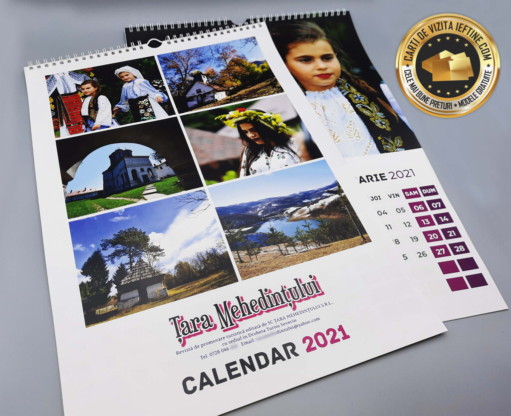 Calendare de perete personalizate ieftine CDVi_