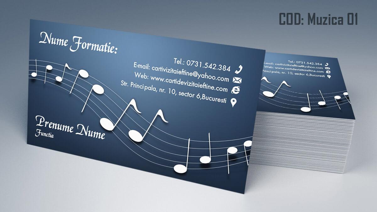 Carti de vizita Muzica Dj Petreceri private Formatie Nunti 01