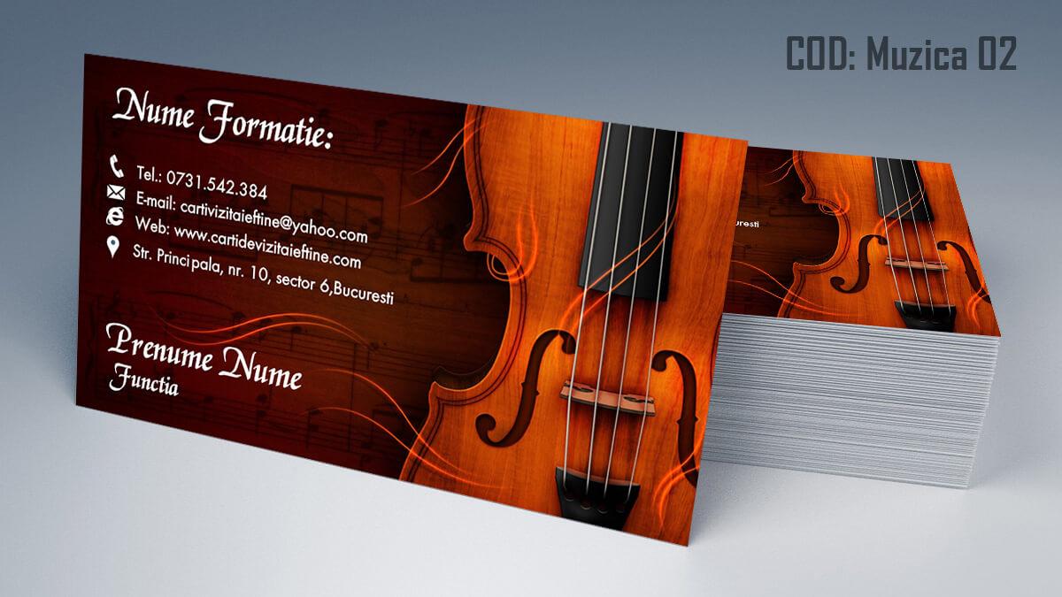Carti de vizita Muzica Dj Petreceri private Formatie Nunti 02
