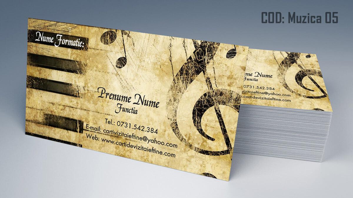 Carti de vizita Muzica Dj Petreceri private Formatie Nunti 05