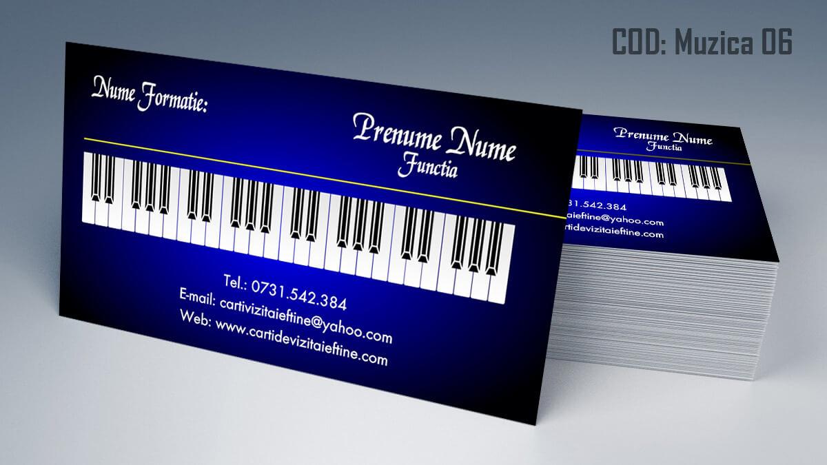 Carti de vizita Muzica Dj Petreceri private Formatie Nunti 06