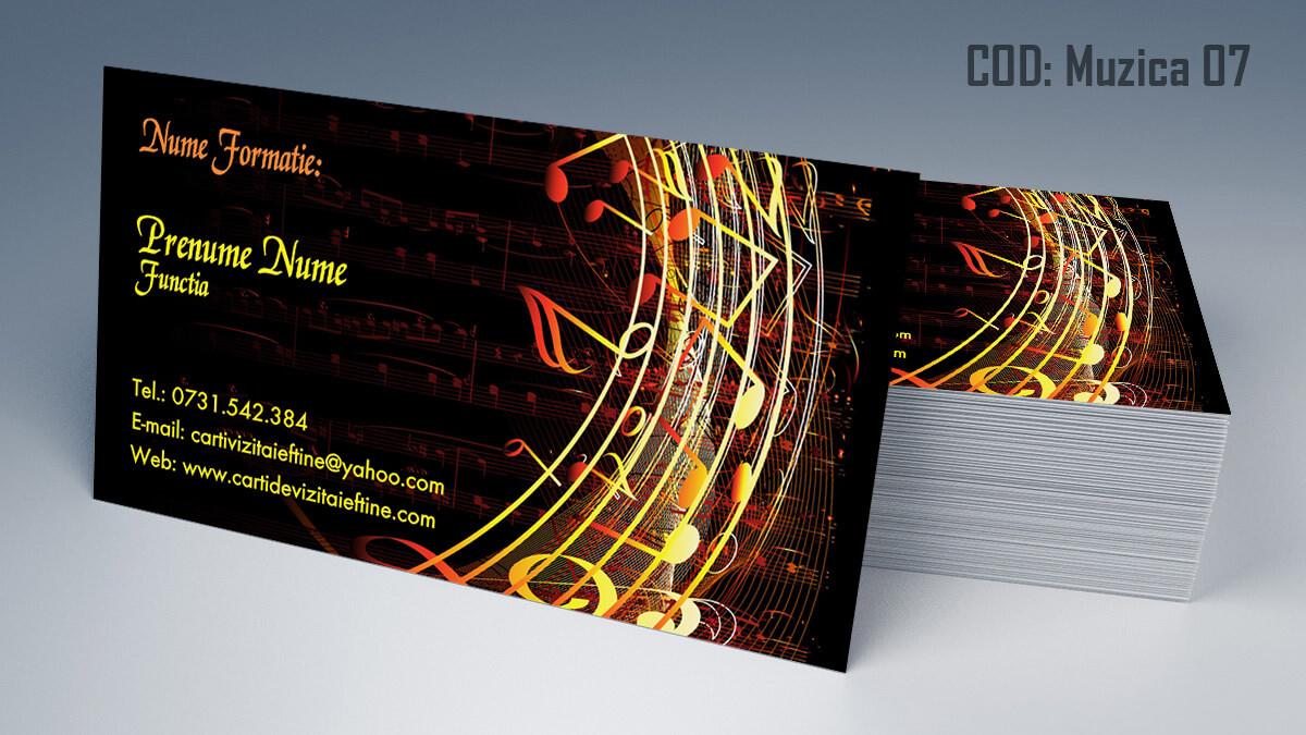 Carti de vizita Muzica Dj Petreceri private Formatie Nunti 07