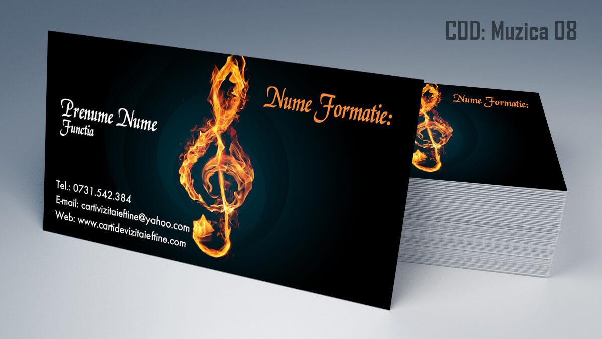 Carti de vizita Muzica Dj Petreceri private Formatie Nunti 08