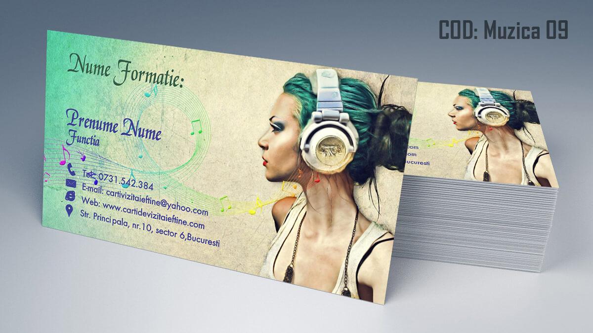 Carti de vizita Muzica Dj Petreceri private Formatie Nunti 09
