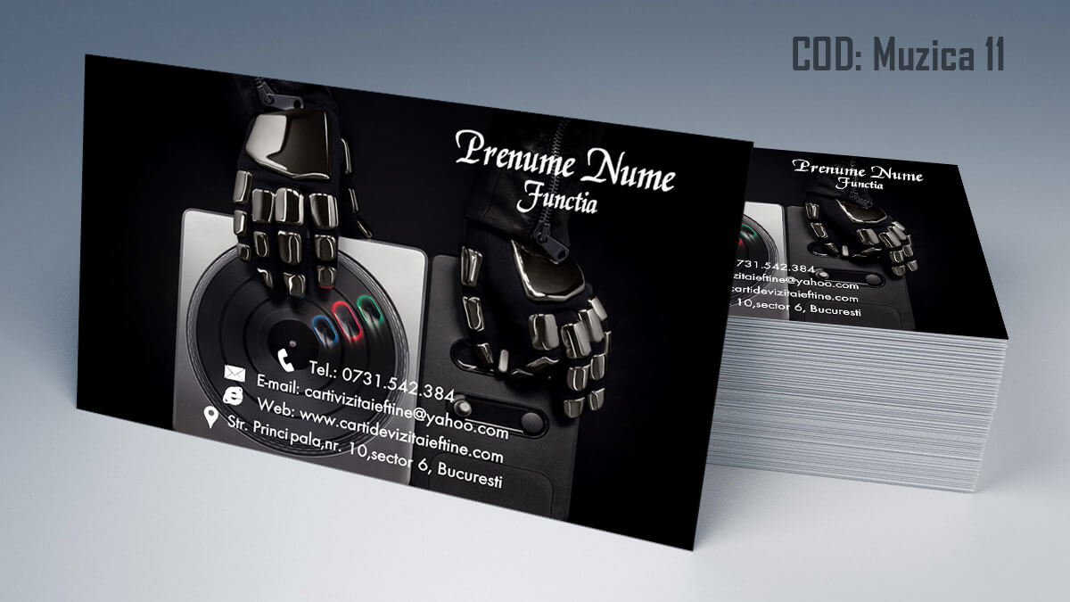 Carti de vizita Muzica Dj Petreceri private Formatie Nunti 11