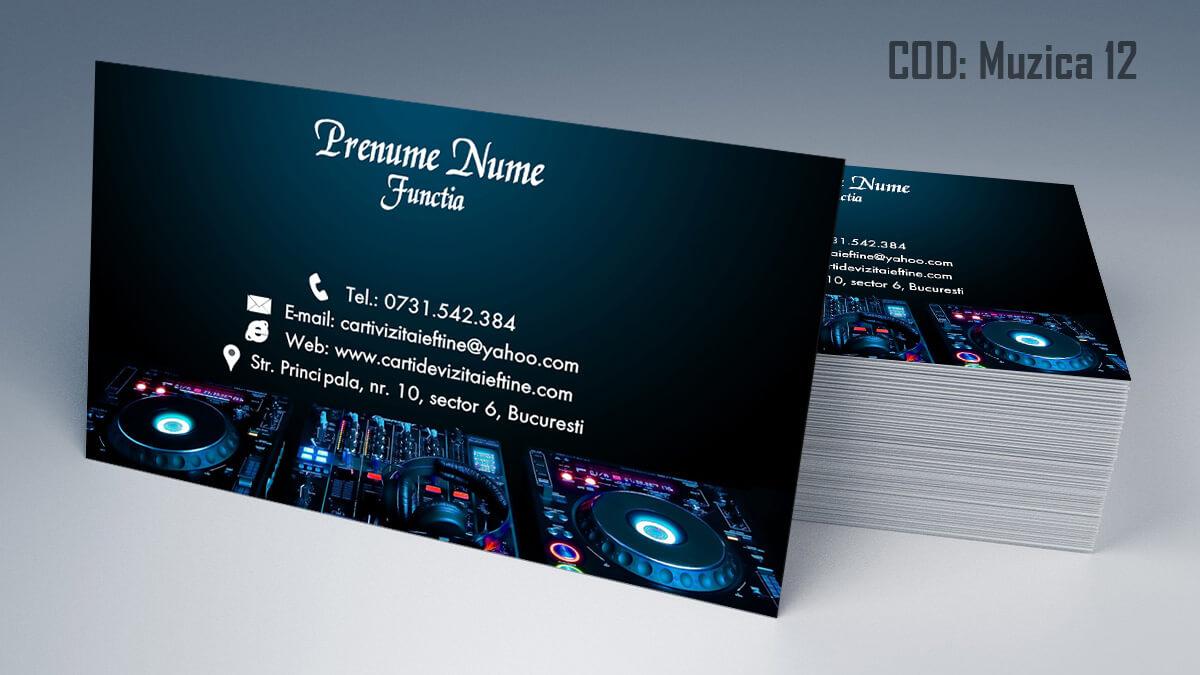 Carti de vizita Muzica Dj Petreceri private Formatie Nunti 12