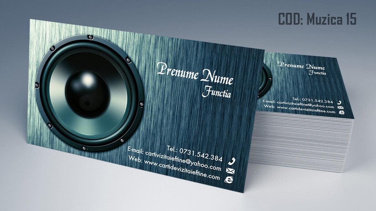 Carti de vizita Muzica Dj Petreceri private Formatie Nunti 15