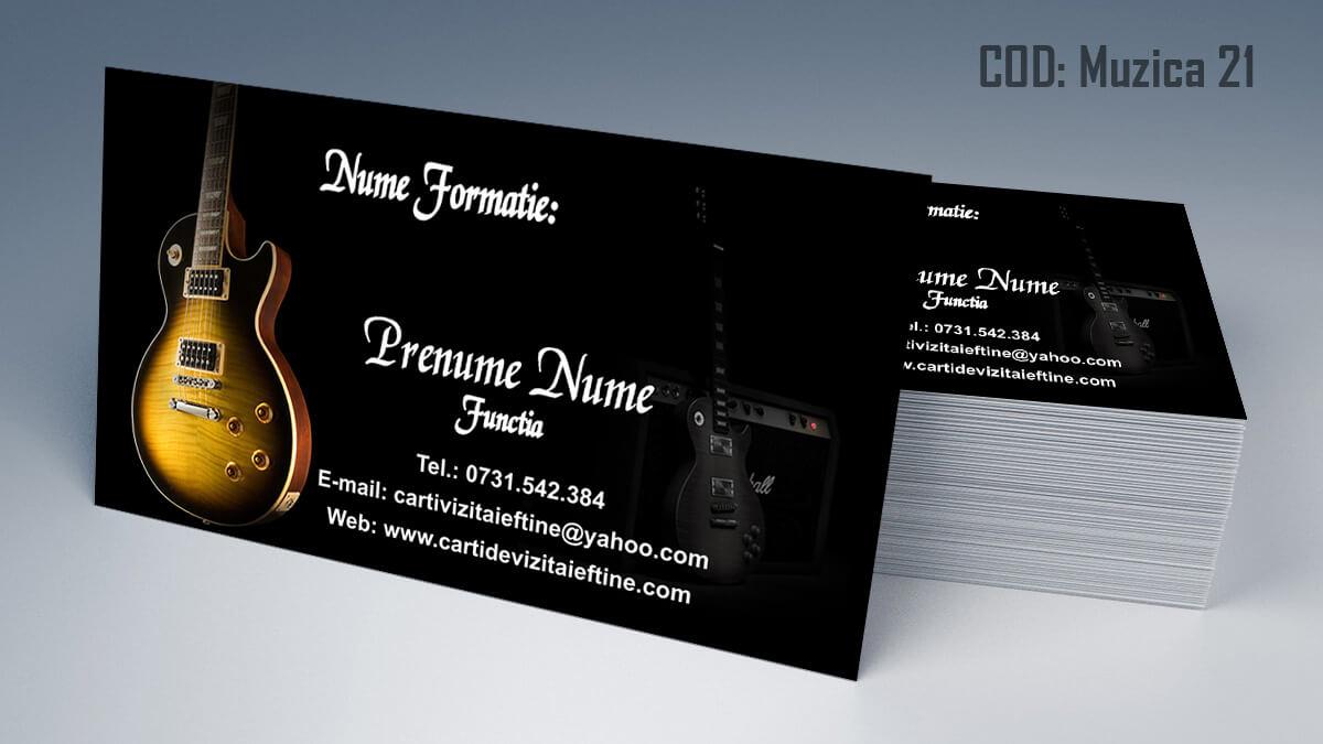Carti de vizita Muzica Dj Petreceri private Formatie Nunti 21