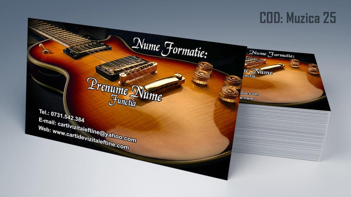 Carti de vizita Muzica Dj Petreceri private Formatie Nunti 25