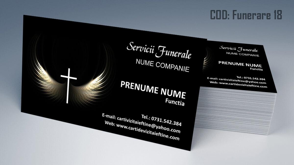 Carti de vizita Servicii Funerare Pompe Funebre 18