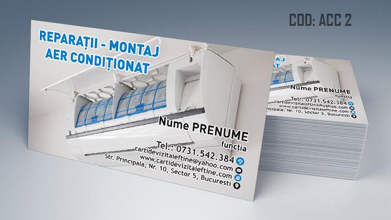 Carti de vizita aer conditionat reparatii montaj CDVi Cod ACC 2