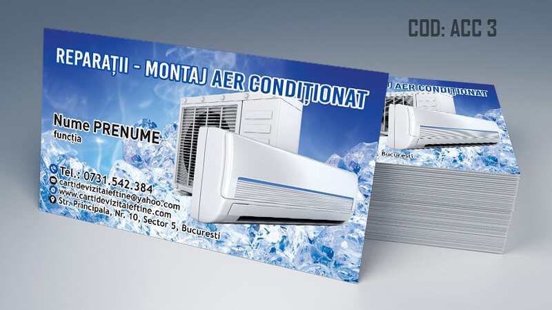 Carti de vizita aer conditionat reparatii montaj CDVi Cod ACC 3