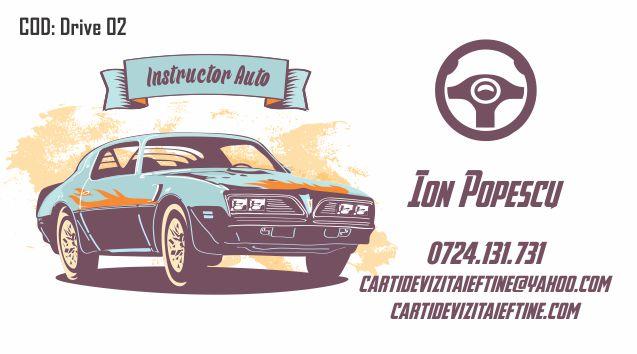 Carti de vizita Instructor Auto Sofer 02