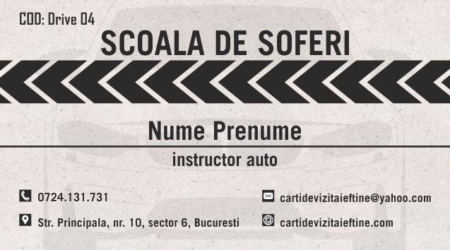 Carti de vizita Instructor Auto Sofer 04