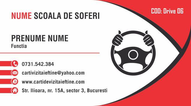 Carti de vizita Instructor Auto Sofer 06