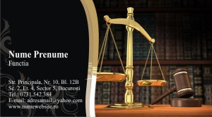 Carti de vizita avocat, avocatura, jurist
