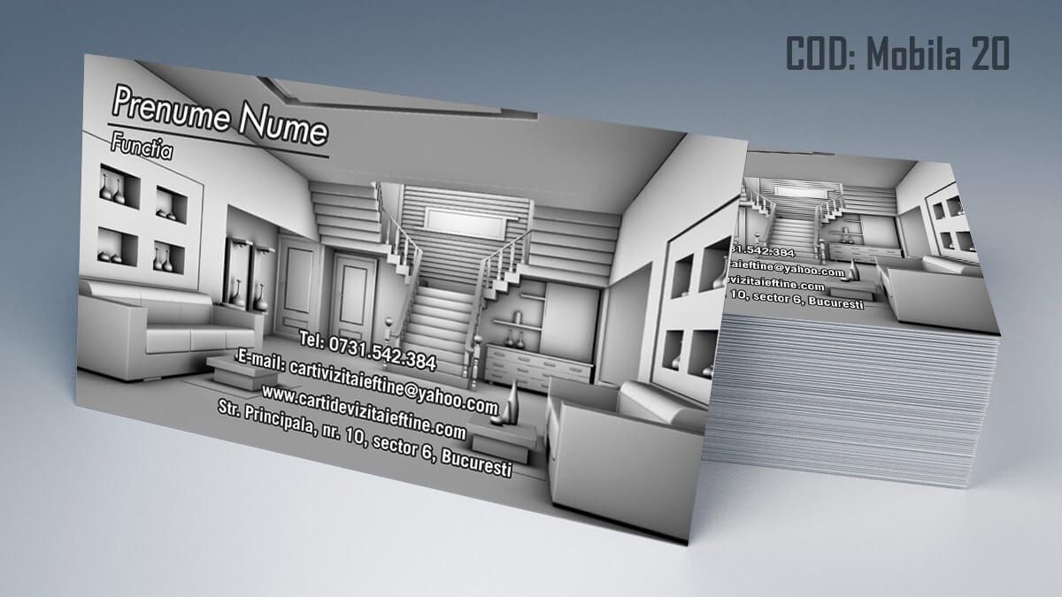 Carti de vizita Mobila la comanda Amenajari Interioare Reparati lemni 20