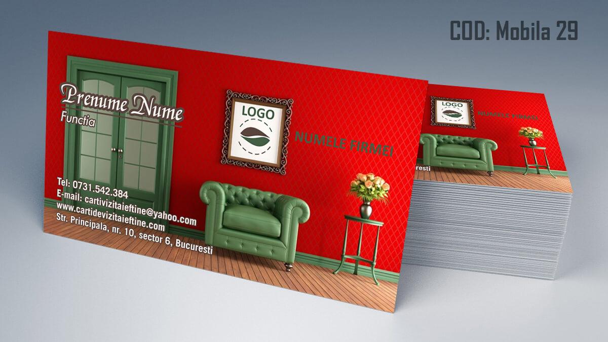 Carti de vizita Mobila la comanda Amenajari Interioare Reparati lemni 29