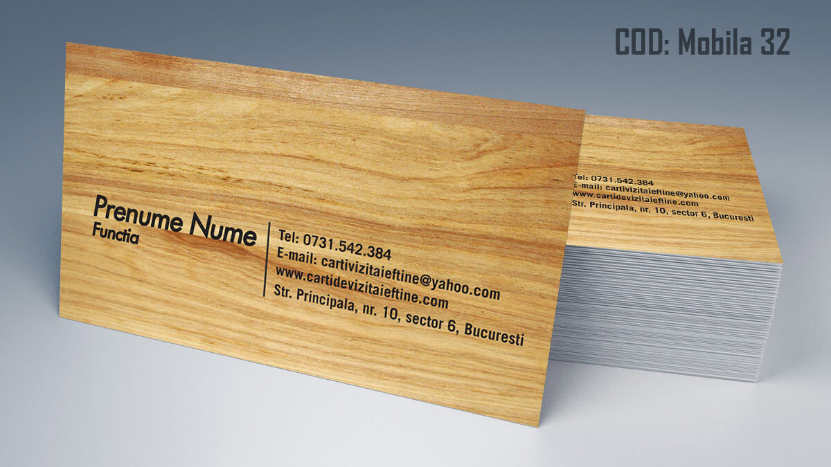 Carti de vizita Mobila la comanda Amenajari Interioare Reparati lemni 32