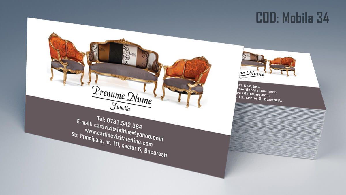 Carti de vizita Mobila la comanda Amenajari Interioare Reparati lemni 34