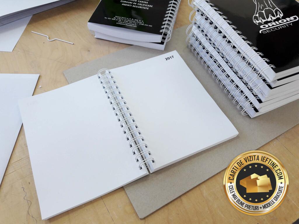 Bloc notes a5 personalizare 100 file albe ieftine CDVi_