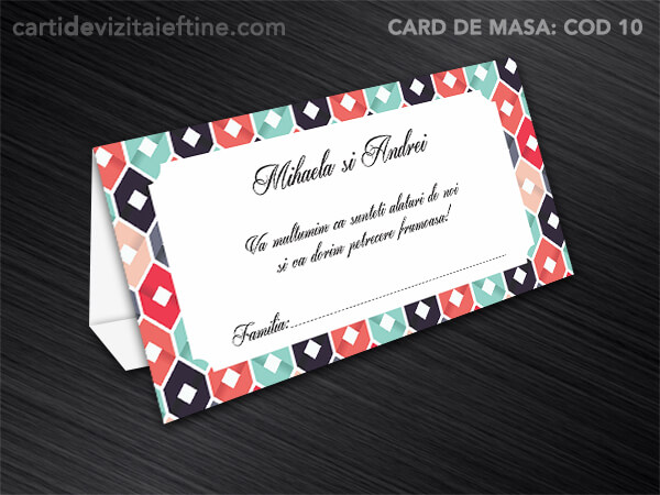 Card de masa - plic bani - nunta - botez CDVi 10