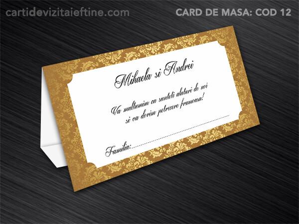 Card de masa - plic bani - nunta - botez CDVi 12