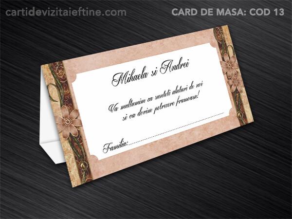 Card de masa - plic bani - nunta - botez CDVi 13