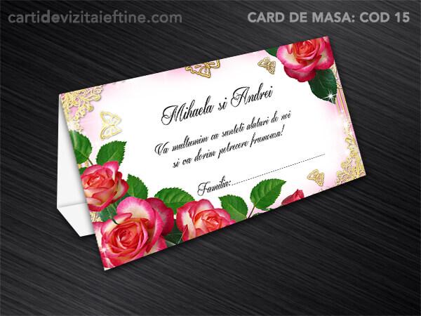 Card de masa - plic bani - nunta - botez CDVi 15