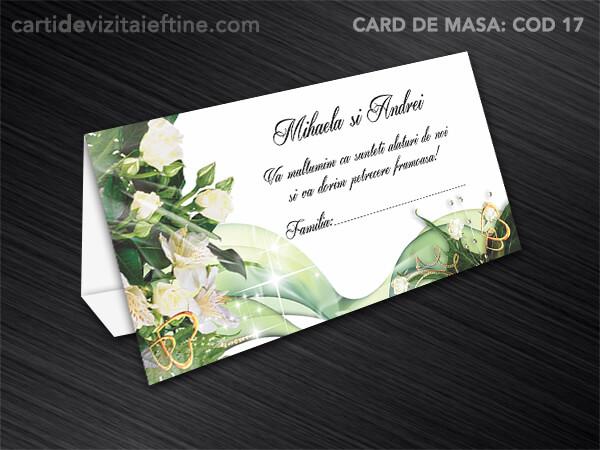 Card de masa - plic bani - nunta - botez CDVi 17