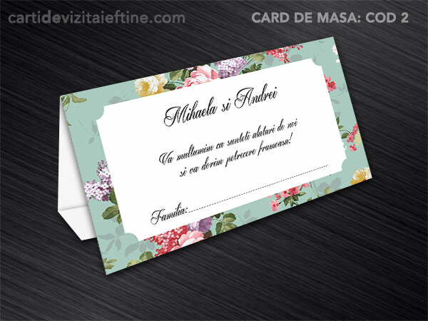 Card de masa - plic bani - nunta - botez CDVi 2