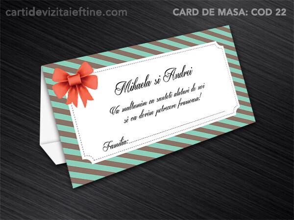 Card de masa - plic bani - nunta - botez CDVi 22