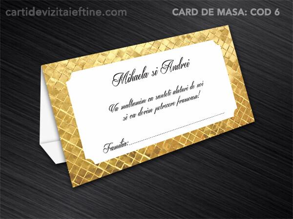 Card de masa - plic bani - nunta - botez CDVi 6