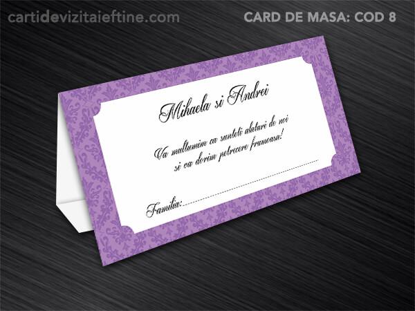 Card de masa - plic bani - nunta - botez CDVi 8