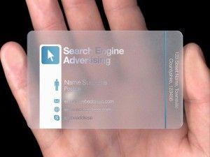 Carti de vizita transparente model inspiratie 7