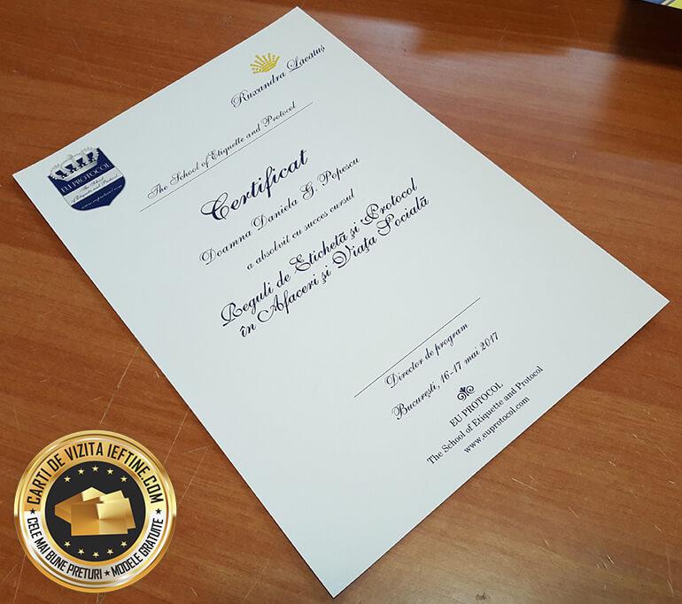 Diplome personalizate 2 certificate ieftine online CDVi
