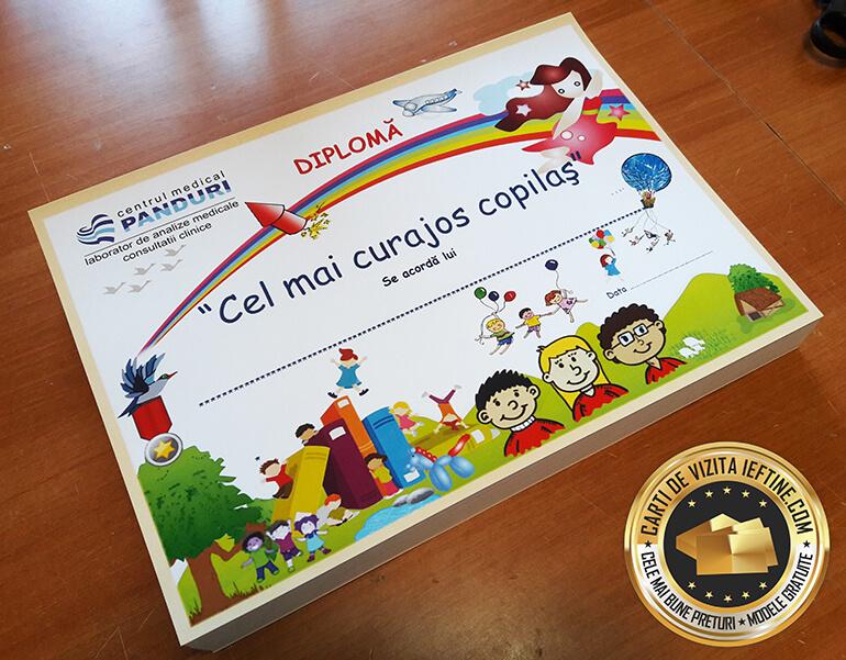 Diplome personalizate 3 print color fata online CDVi_