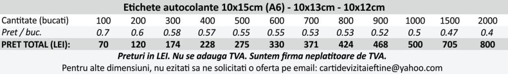 Etichete autocolante autoadezive 10x15cm, A6, 10x13cm, 10x12cm - CDVi