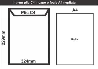 Plic C4 in foaie A4 - schita CDVi