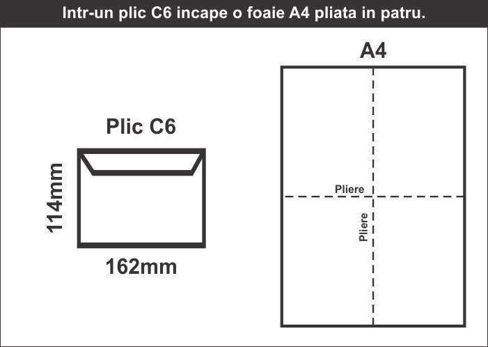Plic C6 in foaie A4 - schita CDVi
