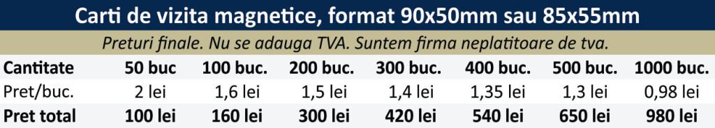 Preturi-carti-de-vizita-magnetice, magneti publicitari ieftini CDVi