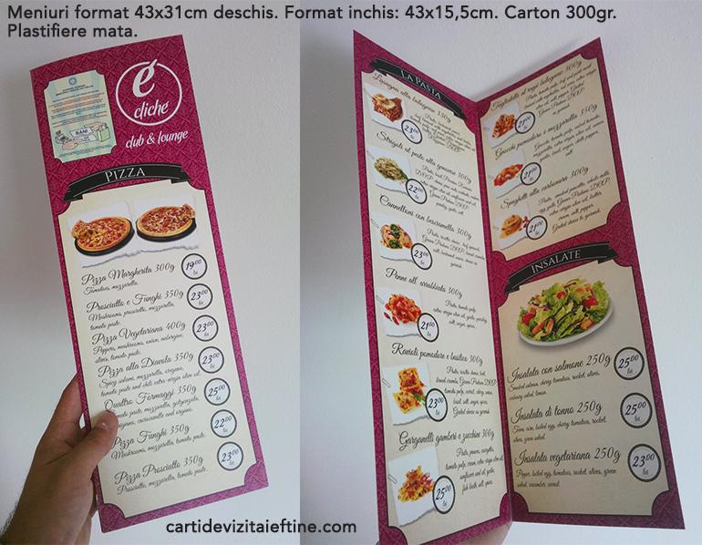 Print Meniuri Restaurant Nunta Botez Carti De Vizita Cel Mai
