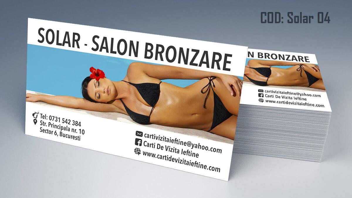 Carti de vizita Salon Bronzare Solar Taning 04