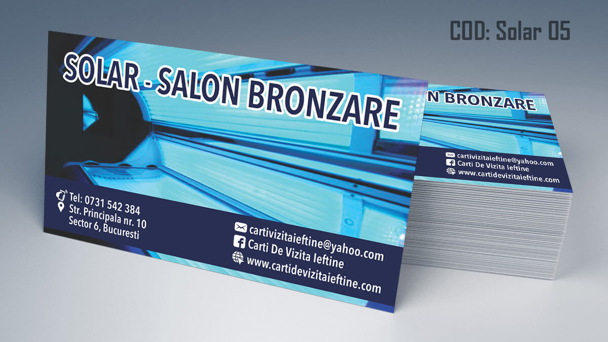 Carti de vizita Salon Bronzare Solar Taning 05Carti de vizita Salon Bronzare Solar Taning 05